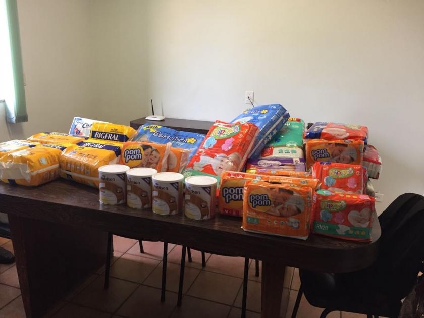 Santa Casa de Sertãozinho recebe doação de fraldas e dieta enteral