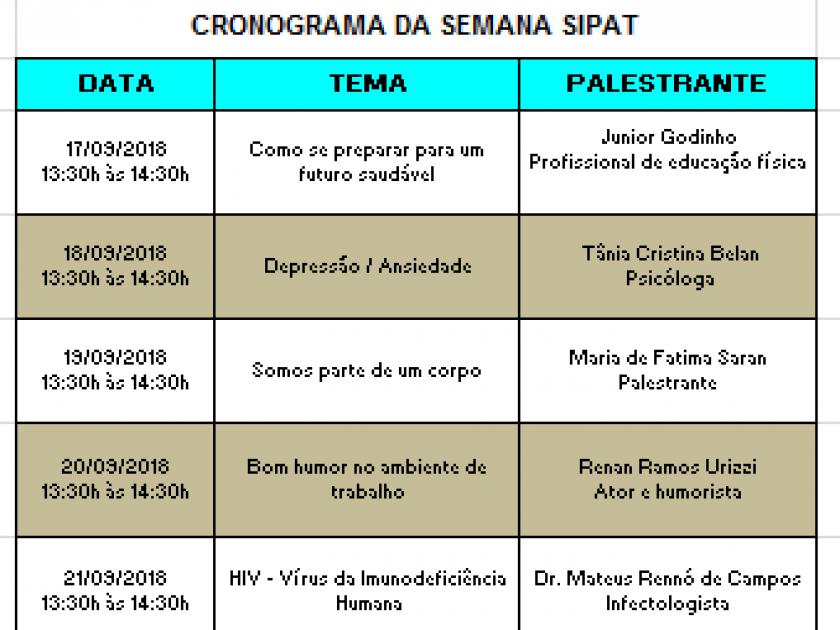 Santa Casa de Sertãozinho realiza SIPAT 2018 a partir de segunda-feira, dia 17
