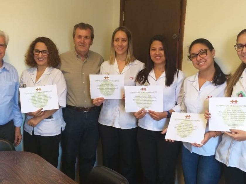 Integrantes do CIH recebem homenagem da Santa Casa de Sertãozinho